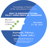 Rozmahel, Fidrmuc, Lacina, Rusek: What is Eurozone's Future: Policy Commitments vs. Freeriding